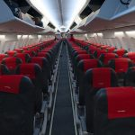 Seats on a Norwegian Airways Flight