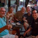 Realizing I'm Not Better Than Anyone Else. Allan, Marge, Neil, Scot and I at the Dirty Martini in Playa del Carmen. We come on Tuesdays for Two for One Martinis.