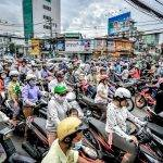 The Art of Crossing the Street in Vietnam. Motorbikes remain the most popular means of transportation in Vietnam, which has a population of around 92 million people and 45 million registered motorbikes, according to the Ministry of Transport.