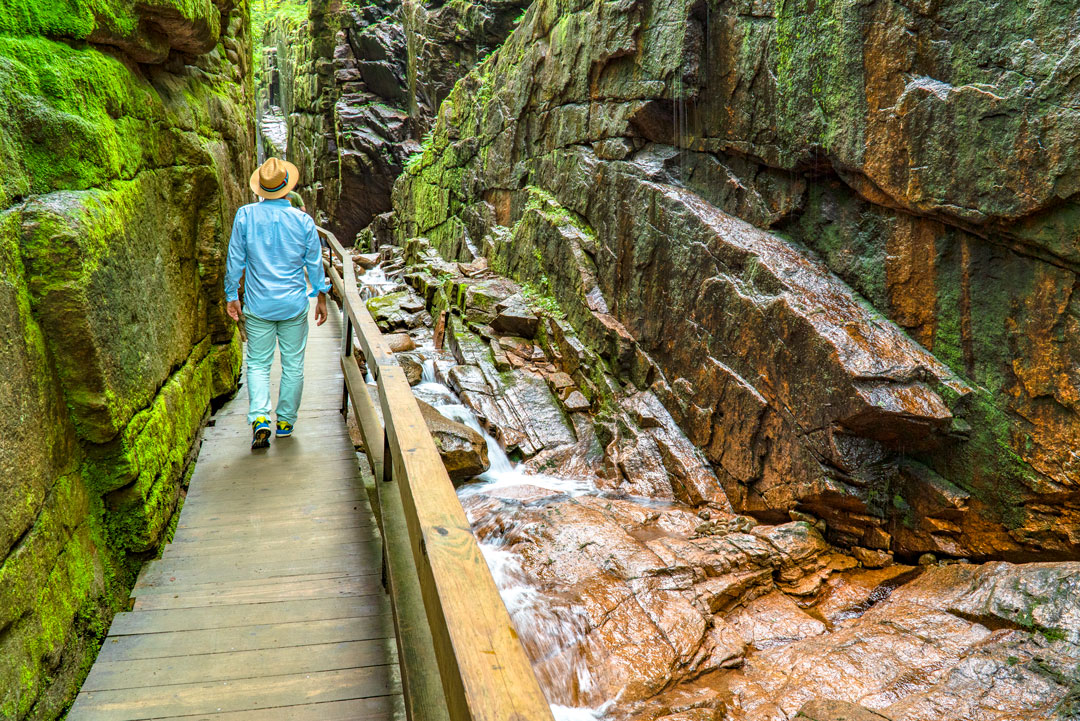 Hiking the Flume Gorge in Franconia Notch State Park