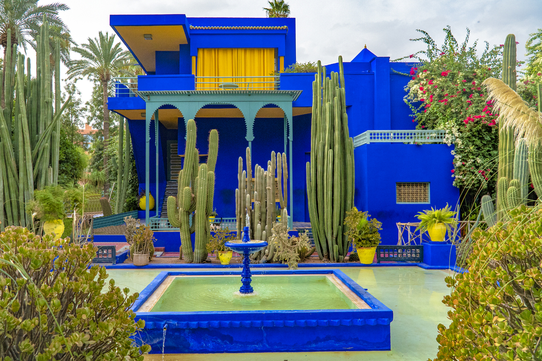 How Selfies Diminish Travel. The Majorelle Garden was designed by the French artist, Jacques Majorelle (1886-1962), son of the Art Nouveau ébéniste (cabinet-maker) of Nancy, Louis Majorelle. The garden and villa were rediscovered in the 1980s, by fashion designers, Yves Saint-Laurent and Pierre Bergé who set about restoring it and saving it after it fell into disrepair.