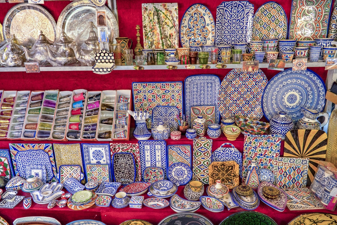 My Top Travel Tips for Morocco. The main centers for Moroccan pottery are Safi, which produces pottery inlaid with metal, and Fez, which produces the very distinctive blue and white fassi pottery.