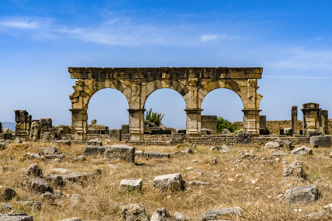 Nine Photos of Volubilis. Local tribes conquered Volubilis in 285. Rome never retook it due to Volubilis' remoteness and indefensibility on the south-western border of the Roman Empire.