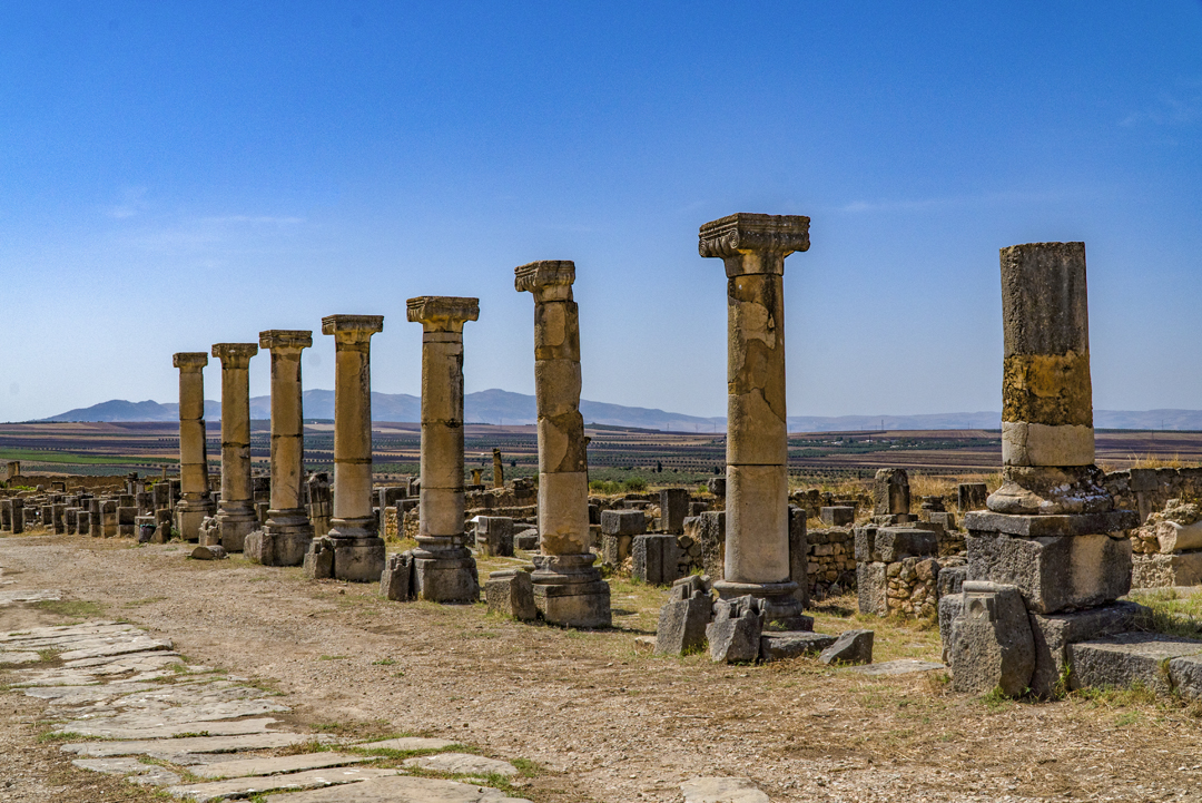 Nine Photos of Volubilis. Finally in the 19th century the ruins were identified as the ancient city of Volubilis.