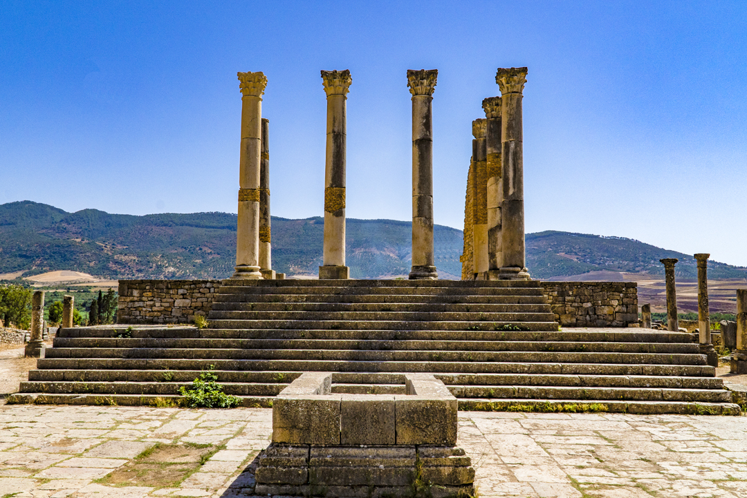 Nine Photos of Volubilis. Volubilis became the seat of Idris ibn Abdallah in the late 8th century. Idris ibn Abdallah served as the founder of the Idrisid dynasty and the state of Morocco.