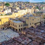The Fez Tanneries. Chouara Tannery the largest of 3 tanneries in Fez, Morocco. Built in the 11th century, the tannery serve as the largest in the city.
