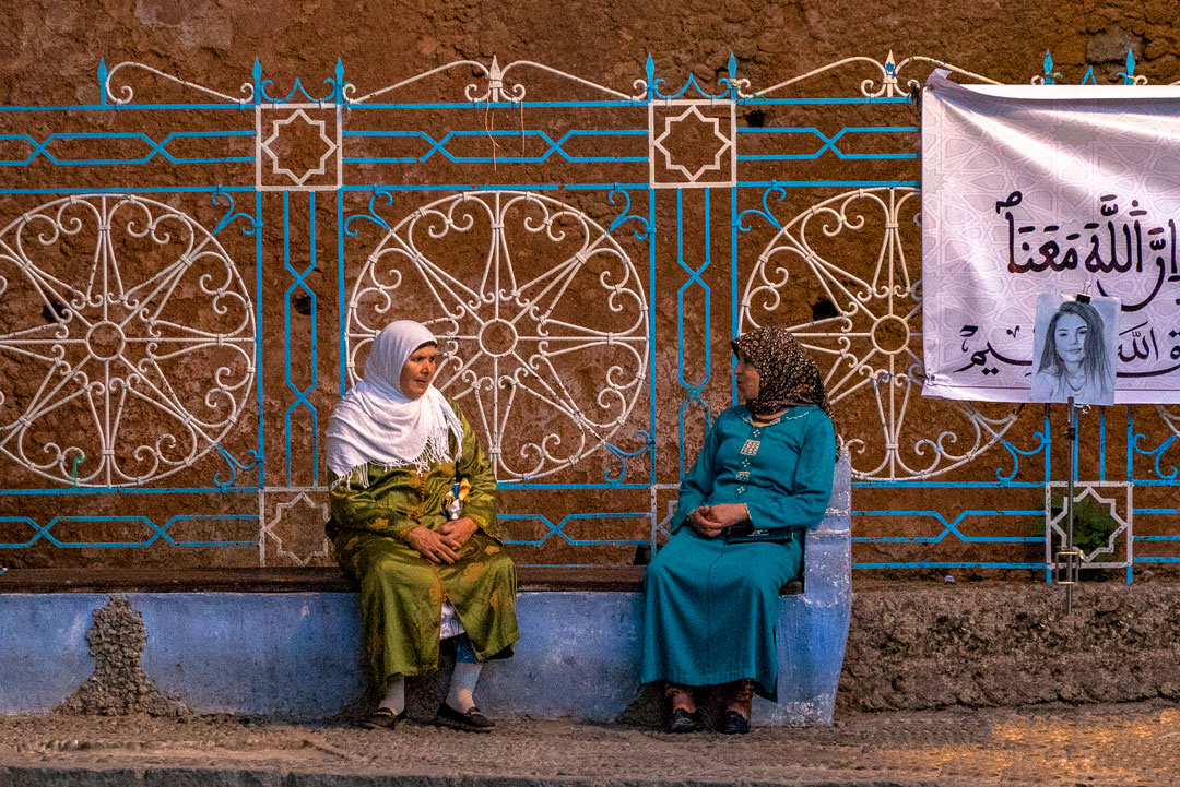 My Top Travel Tips for Morocco. These ladies sat chatting outside the mosque in the medina in Chefchaouen, probably the prettiest medina in all of Morocco.