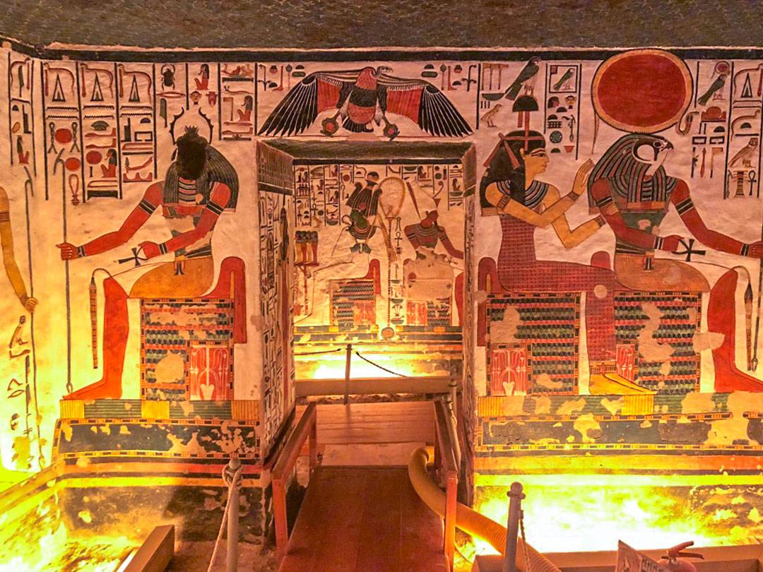 Photos of Nefertari's Tomb. It is often considered to be the Sistine Chapel of ancient Egypt regarding it's stunning artistry.