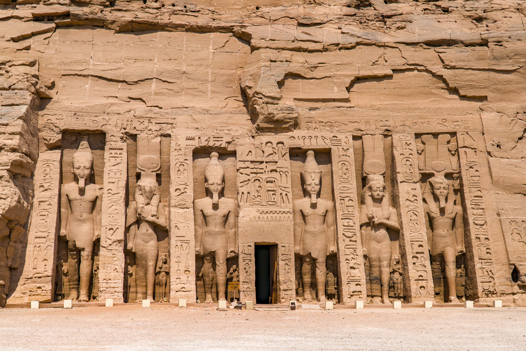 Abu Simbel Travel Guide. The Temple of Hathor at Abu Simbel was constructed by Ramesses II to commemorate both his wife Nefertari as the deified queen and Hathor, the goddess of music and love.