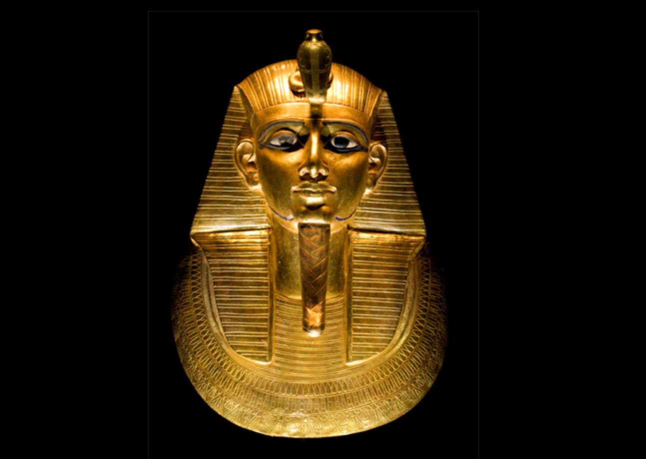 The funeral mask of Psusennes I. He ruled from Tanis, Egypt between 1047–1001 BC.  Photo courtesy of Wikipedia.com.