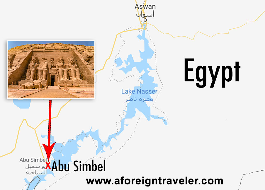 Abu Simbel Travel Guide. Abu Simbel sits closer to Sudan than Aswan, lying only 40KM (25 miles) to the north.