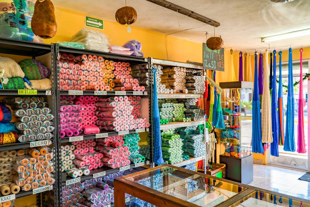 Casa de Las Hamacas Store. In Playa del Carmen many homes designed for locals come with hammock hooks. In fact, native Yucatecans tend to prefer sleeping in hammocks instead of in beds.