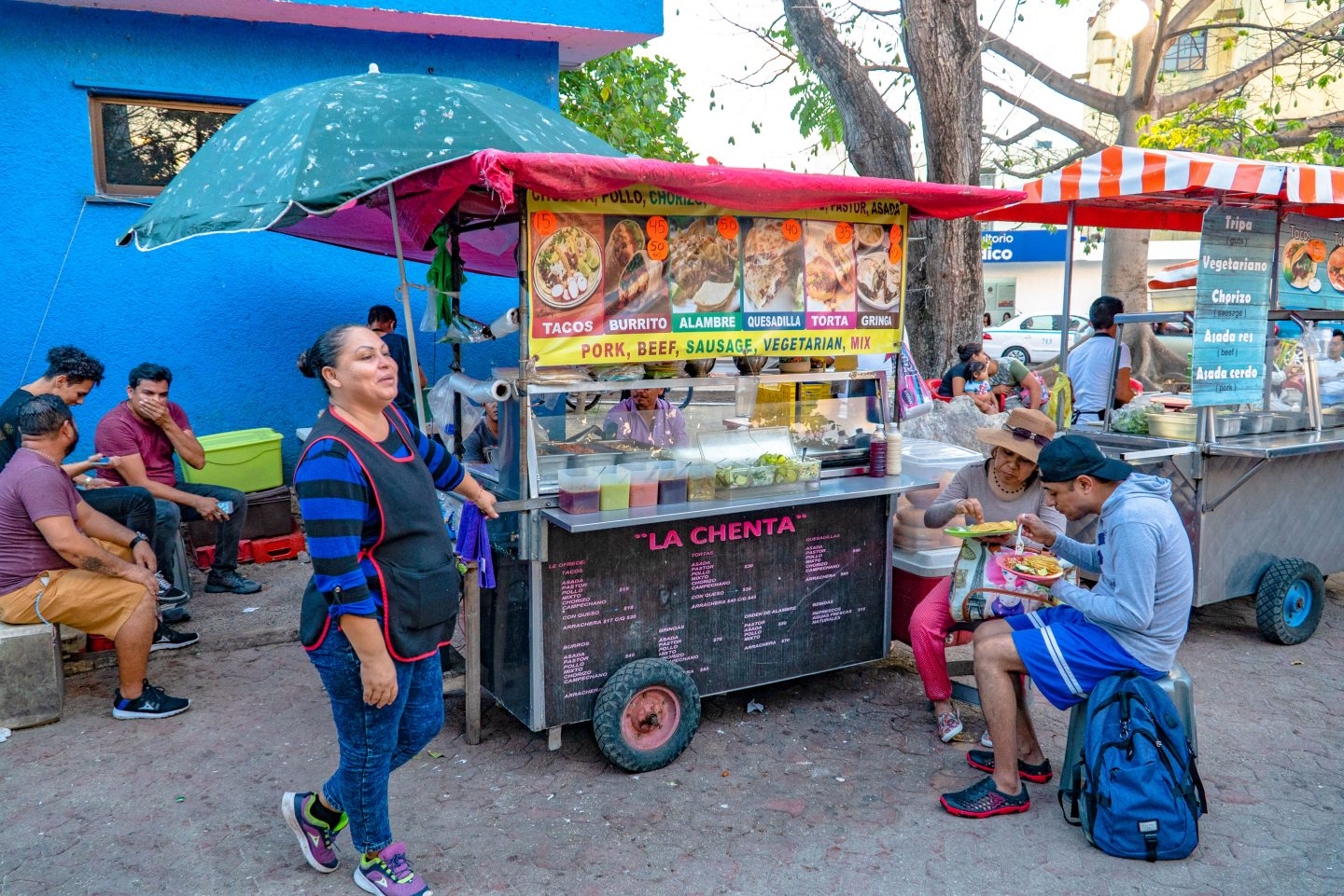 The Food Carts on 15th and Juarez.