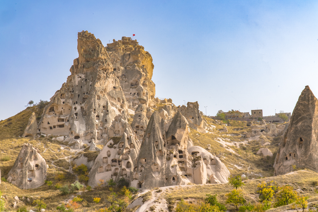 It takes 120 steps to climb to the top of Uchisar Castle.