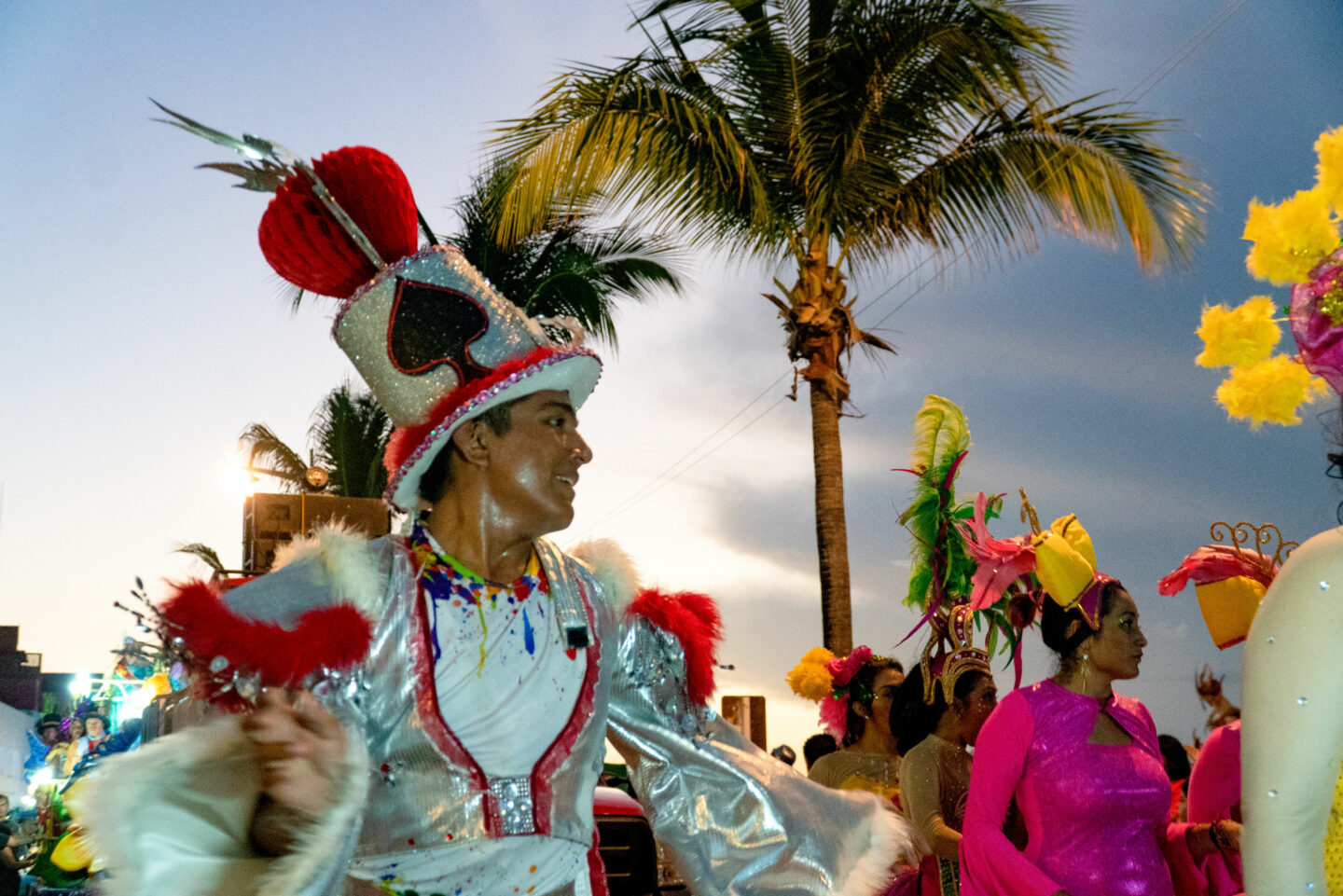 "Carnaval in Cozumel.  Mardi Gras means""Fat Tuesday"" in French, referring to overeating fatty foods on the last night before lent."