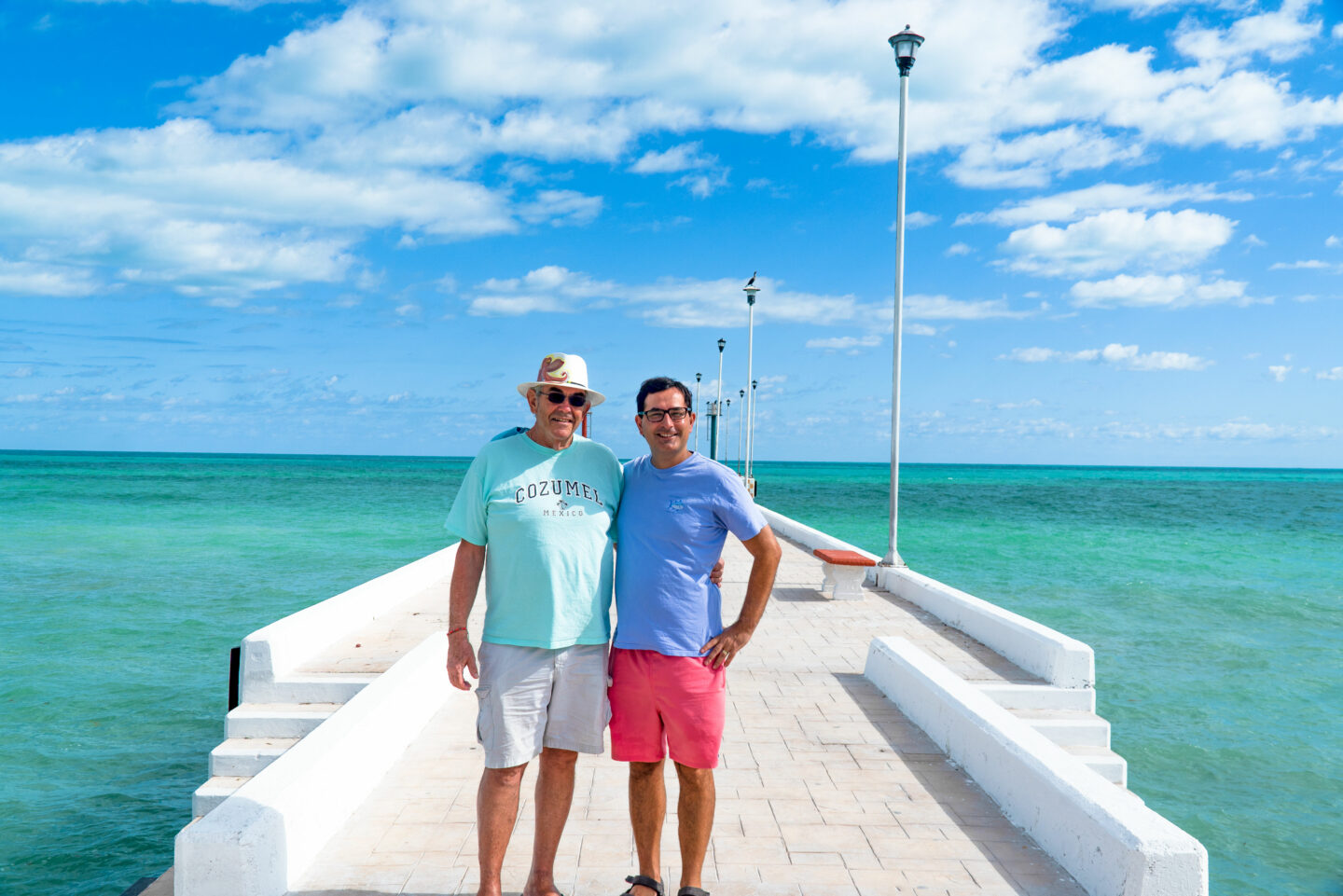 Allan and me at the main dock in El Cuyo. There are roughly 1,750 inhabitants in El Cuyo.