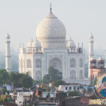 The Taj Majal in Agra. I shot this photo at dusk from the roof of our hotel, The Tajview Agra, using a zoom lens.